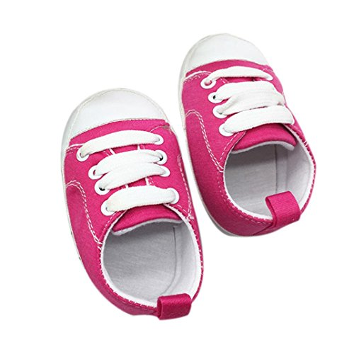 UOMOGO Scarpine Neonato Scarpine Neonato in Tela- Scarpe Primi Passi - Scarpette Neonato - Scarpe Bambina Ragazza Ragazzo 6-18 Mesi
