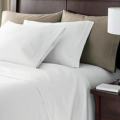Linens Limited 2 Kissenbezüge mit Saum - Ägyptische Baumwolle, Fadenzahl 200 - Weiß - 50 x 75cm -