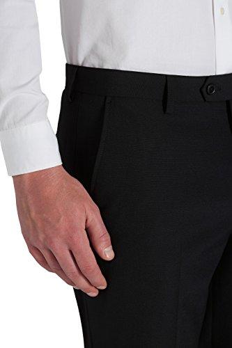 next Uomo Completo Misto Ad Alto Contenuto Di Lana Pantaloni Vestibilità Regular Nero