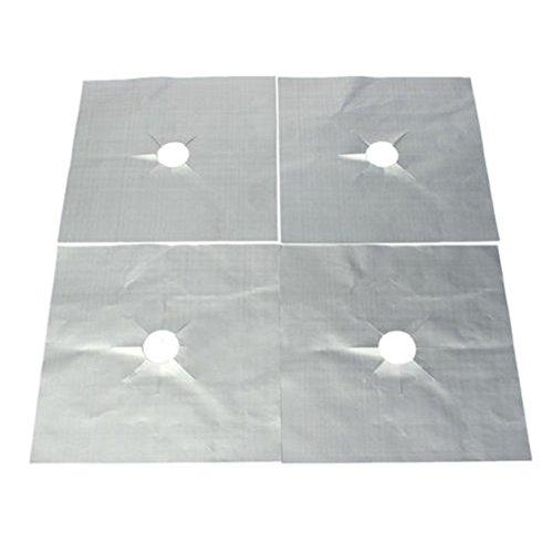 sztara-gas-stove-clean-pad-reusable-square-silver-stovetop-range-protector-pack-of-4pcs