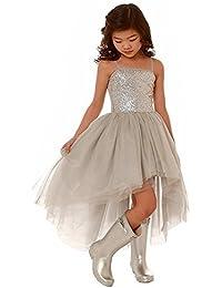 c4c3f73ae549 HotGirls Paillettes Flower Girls Pizzo Tulle Ball Gowns Abiti Alta Prima  Comunione