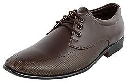 Shoeadda Mens Brown Derby Shoes - 8 UK