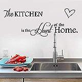 Art Wall Sticker La cuisine est le cœur de la maison pour la décoration de la cuisine Sticker mural PVC amovible Peintures murales Art Home Decor cm 55x147cm