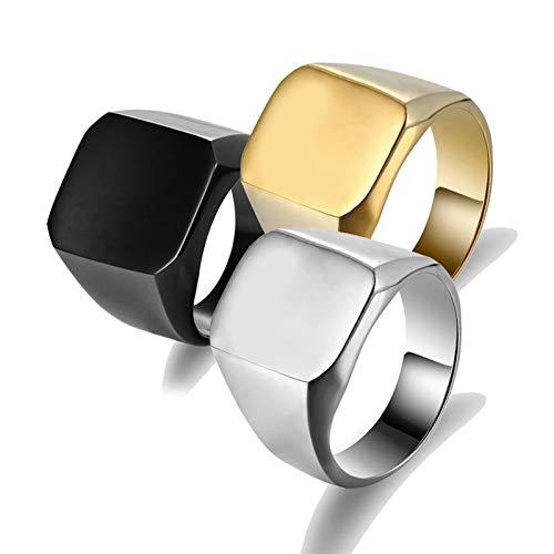 Blisfille Ringe Herren Zelda Ringe In Gold Gothic Titanring Quadrat Gold Größe 65 - Ring Toss Kostüm