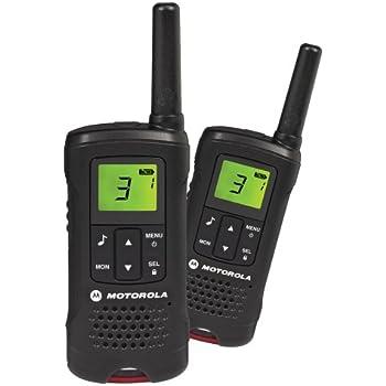 motorola talker t60 2 way walkie talkie radio black pack of 2 tv. Black Bedroom Furniture Sets. Home Design Ideas
