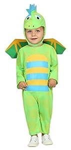 Atosa-30540 Disfraz Dragón, Color verde, 6 a 12 meses (30540