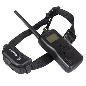 Magicfly® Etanche Collier de dressage Rechargeable pour un chien Trois modes de son bip vibrations et chocs avec télécommande numérique à LCD écran