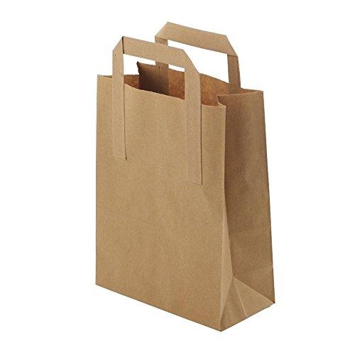 (BIOZOYG Umweltschonende Papier Tragetaschen groß I Papiertüten Geschenktüten Papiertragetaschen biologisch abbaubar, kompostierbar I 250 x braune Papier Tüten 32 x 12 x 40 cm)