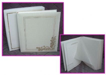 Innova q66w2678x - album fotografico da matrimonio con 80 pagine, in cofanetto trasparente color crema