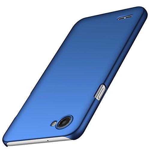 anccer LG Q6 Hülle, [Serie Matte] Elastische Schockabsorption und Ultra Thin Design für LG Q6 (Glattes Blau)
