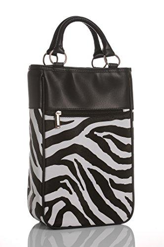Couture Zebra (LUDI-VIN 5060388471309Kühltasche Haute Couture, Flasche und Korkenzieher Stoff Zebra 21,5x 11,5x 34cm Set 2)