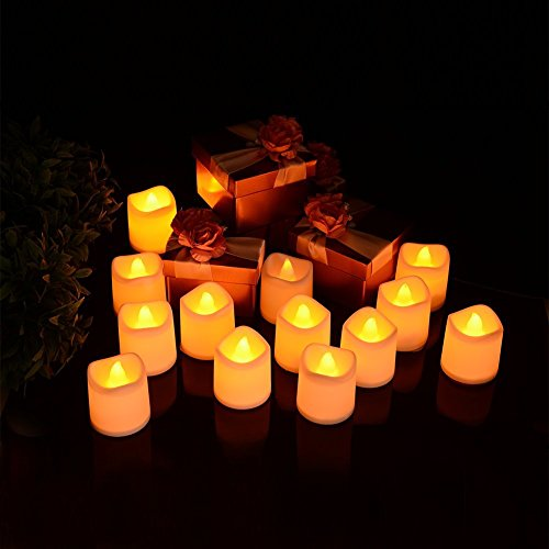 Jian ya na interior/exterior funciona con pilas sin llama pilar vela Led luz de plástico con 6horas temporizador automático para Navidad, cumpleaños, hogar, cena, boda, fiesta, decoración, 2 PC