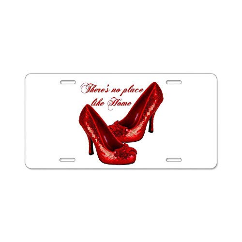 BNHF CafePress - Wizard of oz Red Ruby Slippers Aluminum License Pl - Aluminum License Plate, Front License Plate, Vanity Tag