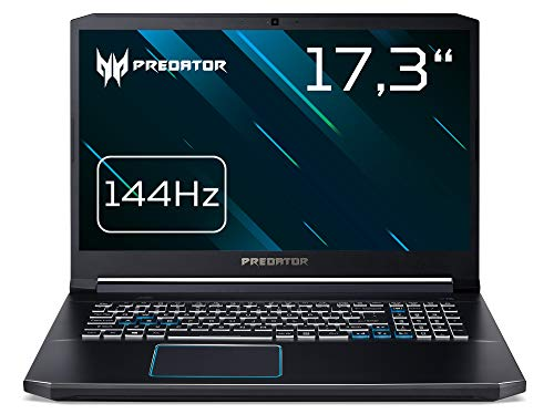 Predator Helios 300 (PH317-53-78JX) 43,9 cm (17,3 Zoll Full-HD mit IPS 144 Hz) Notebook (Intel Core i7-9750H, 16 GB RAM, 512 GB PCIe SSD, NVIDIA GeForce GTX 1660Ti, Win 10 Home) schwarz/blau Acer 17