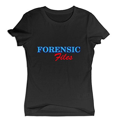 De la Mujer forense archivos Logo camiseta colorsizename, S, Negro