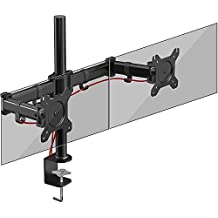Duronic (Certified Refurbished) DM252 Dual PC Monitor Arm Stand Desk Mount Screen Bracket Clamp Double/Twin |LCD |LED | Tilt and Swivel (Tilt ±45°|Swivel 180°|Rotate 360°)