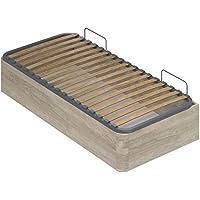 Movian -  Cadre de lit simple avec coffre Constance Modern, 190 x 90 x 36,5, Chêne