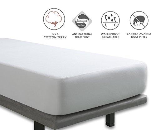 Tural - Coprimaterasso Anti-Acari Impermeabile e Traspirante. Una Piazza e Mezza 120x190/200 cm - Proteggi Materasso Impermeabile