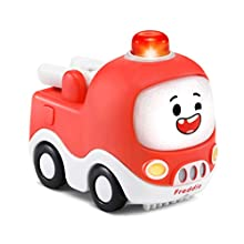 VTech Toot-Toot Drivers Cory Carson Freddie Fire Truck, Toy Kids Car with Sounds and Phrases, Light Up Baby Music Toy, Car for Kids, Learning for Boys and Girls Aged 2, 3, 4, 5 Years +