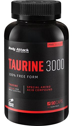 Body Attack Taurine 3000, 90 Kapseln, 1er Pack (1 x 104 g)