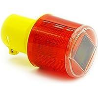 MASUNN Luz De Advertencia De Tráfico De Energía Solar Led Señal De Seguridad Baliza Alarma De Emergencia - Rojo