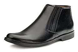 Escaro Mens Black Formal Ankle Boots (ES1106KB_Black_10)