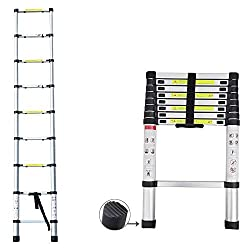 2019 Latest Design DIY Multi-Purpose Aluminium Telescopic Ladder Extension Extend - Portable Foldable (2.6M)