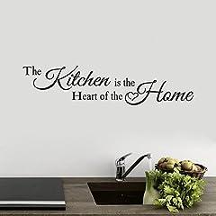 Idea Regalo - Topgrowth Adesivo Muro Scritte Adesive per Pareti La Cucina Home Decor Vinile Arte Murale Wall Sticker