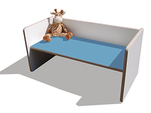 Die Schreiner - Christoph Siegel Eli de Table/Banc Blanc avec hellblauer Assise réversible Kids