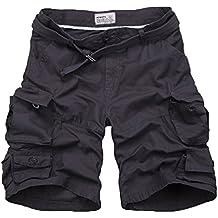 Yonglan Hombre Militar Cortos de Carga Camuflaje Bermuda Cortos Pantalones Deporte Shorts Multi Bolsillos Moda Pantalones cortos… FCpo9Z