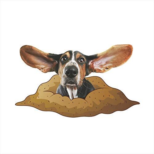 QTXINGMU Katzen Hunde Wand Aufkleber Für Kinder Zimmer Bad Wc Home Decor 3D Tier Wand Aufkleber Wasserdichte Poster (2 Pcs) 3