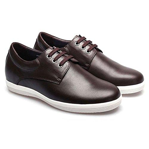 CHAMARIPA 5,5 cm Chaussure Elevante pour homme Paraitre plus grand Chaussure de loisir Brun