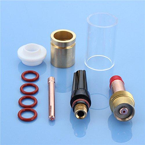 Hitommy 1001/40,6cm Stubby Gas Objektiv Glas Düse Cup Kit Taschenlampe Zubehör für wp-17/18/26