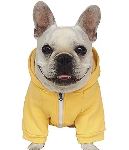 Moolecole Fermez Sweat à Capuche Animal De Compagnie Costume Chien