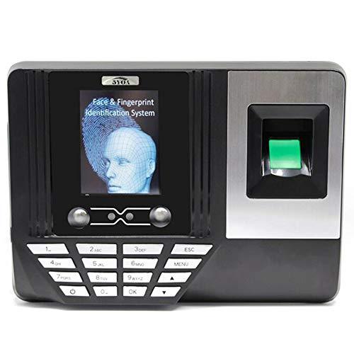 BOHENG Fingerabdruck-Anwesenheitsmaschine, Fingerabdruck-Gesichtserkennungs-Maschine, Mitarbeiter-Management-Wecker, softwarefreier U-Festplattenbericht, 2,8-Zoll-Farbbildschirm, DC5V