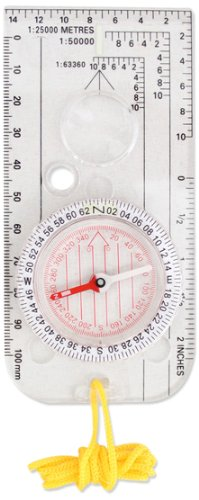 Milestone Camping 20690 Travel Compass ~ Hiking, Camp, Outdoors ~ Lanyard Included, Transparent