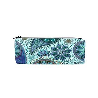 Bonie – Estuche para lápices de diseño étnico bohemio floral estilo vintage, para la escuela, papelería, bolígrafos, con cremallera, bolsa de maquillaje