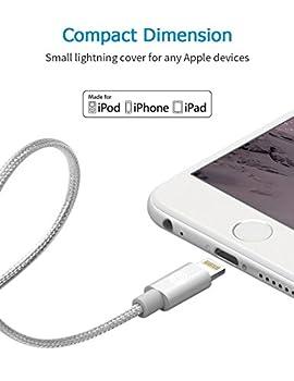 Apple Ladekabel Opso[apple Mfi Zertifiziert] Nylon Geflochten Lightning Usb Kabel 1m Für Iphone 7 6s 6 Plus Se 5s, Ipad Pro, Ipad Mini, Ipod Touch Nano - Silber 4