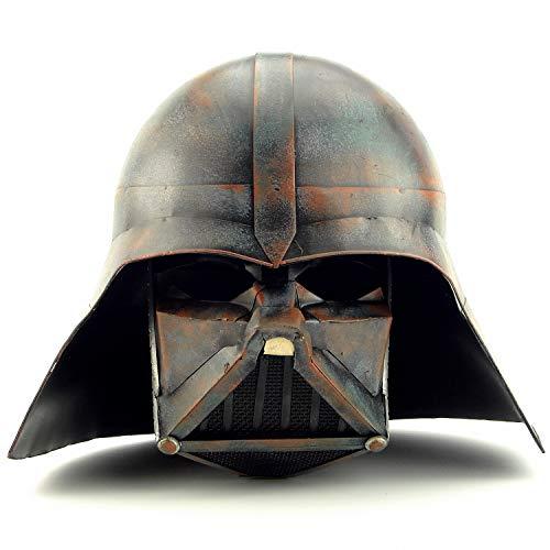Kostüm Star Wars Handgefertigte - SDBRKYH Schwarzer Samurai Helm, Mittelalterlicher Wikinger Krieger Helm Star Wars Schwarzer Helm Kostüm Partyhut Halloween