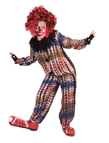 er Kostüm, Horror Creepy Clown, perfekt für Halloween Karneval und Fasching, 116, Mehrfarbig ()
