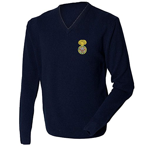 royal-welch-fusiliers-lambswool-v-neck-jumper-navy-large