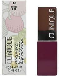 Clinique Pop à lèvres et de couleur rouge à lèvres Primer pour femme N ° 16, Raisin Pop 3,90G