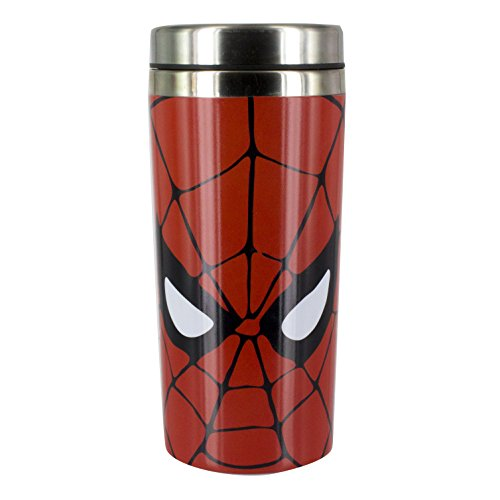 (Marvel Comics Spiderman Thermobecher, Edelstahl, Multi, 8 x 8 x 18 cm)