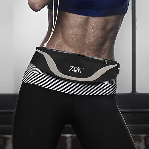 Cintura da corsa telefono per iphone 8 plus samsung galaxy 8s, marsupio sportivo donna uomo per running ciclismo viaggi jogging escursioni arrampicata (nero)