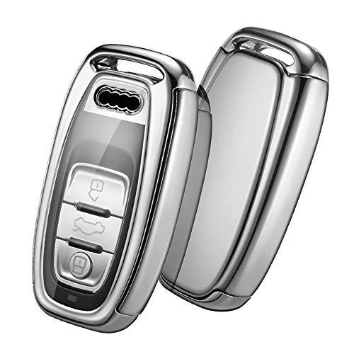 Autoschlüssel Hülle Audi,Schlüsselhülle Cover Case für Audi