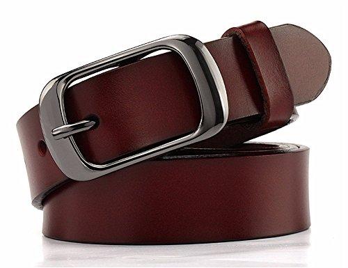 YANGFEIFEI-YD Das Mädchen Gürtel Leder Gürtel, einfachen, stilvollen Lounge Kraftpapier runde...