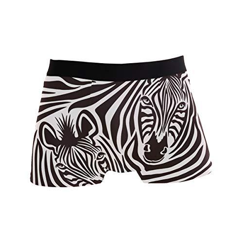 JIRT Herren-Boxershorts Zebra-Print abstrakte Tier Muster Unterwäsche männlich atmungsaktiv Stretch Badehose Bulge Pouch weiche Unterhose