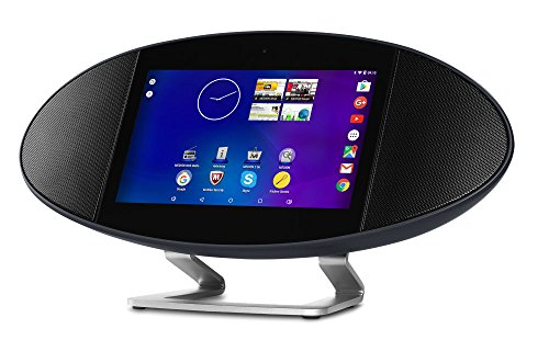 MEDION MD 99677 Smart Speaker / Media Base, Tablet/Speaker, Internet-, Webradio, Soundpad, Quadcore Prozessor, Android 5.1, 7 Zoll TFT LCD, HDMI, MicroSD, Micro USB, schwarz (Süd-microsd)