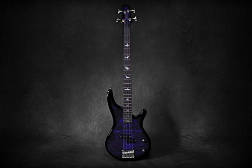Lindo PDB Series Purple Dove Electric Bass Guitar With Carry Case and Cable