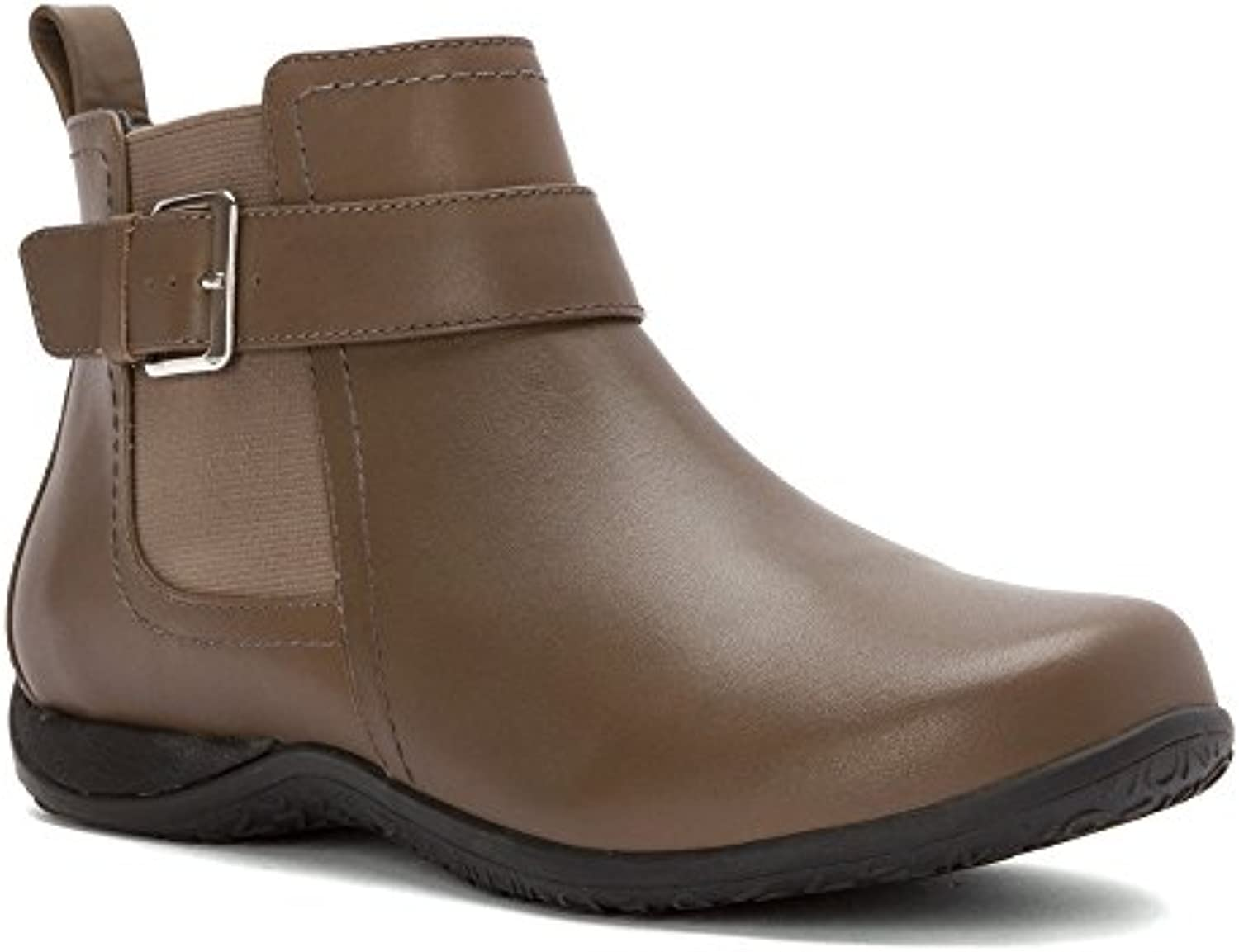 Vionic Adrie Womens Casual Ankle Boot Taupe - 10